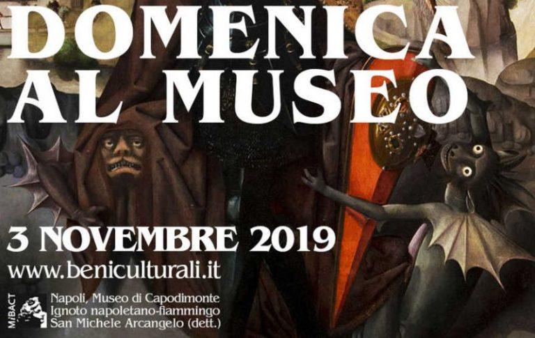 MUSEI, DOMENICA 3 NOVEMBRE TORNA LA DOMENICA GRATUITA