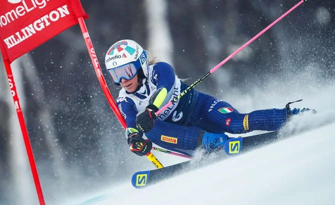 MARTA BASSINO VINCE IL GIGANTE DI KILLINGTON, SECONDA LA BRIGNONE