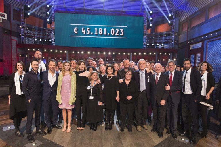 TELETHON, NEL 2019 RACCOLTI 45 MILIONI PER LA RICERCA