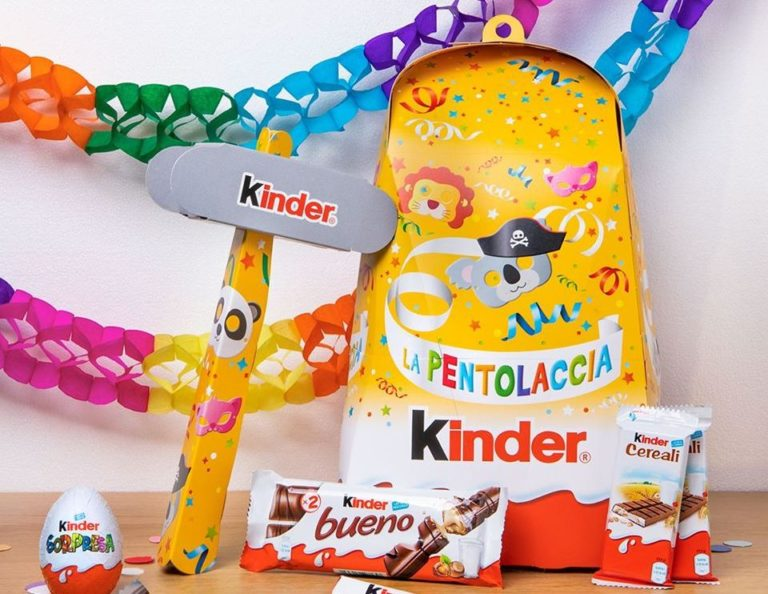Kinder animerà il Carnevale di Viareggio con la Pentolaccia