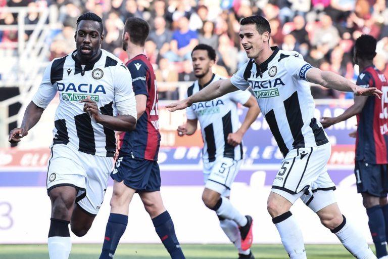 Non basta Okaka, Palacio-gol al 92°, Bologna-Udinese 1-1