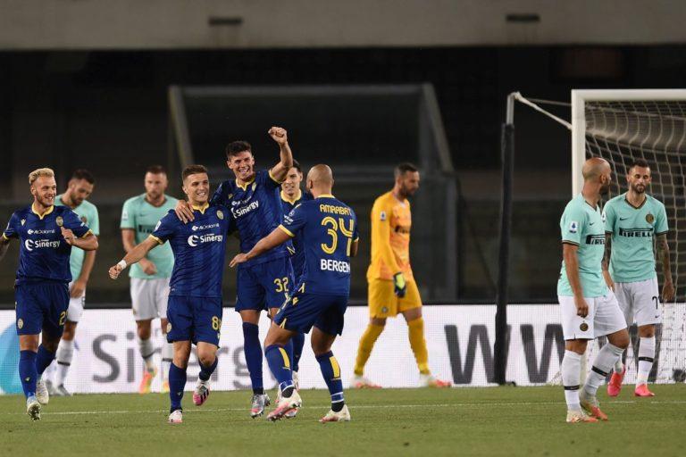 Inter ribalta il Verona, ma alla fine fa 2-2 e scivola al 4° posto