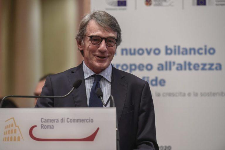 """Sassoli """"Dall'Ue fiducia nell'Italia ma non agisca come prima del Covid"""""""