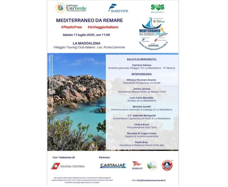 """Torna """"Mediterraneo da remare"""", Pecoraro Scanio """"Stop plastica a mare"""""""